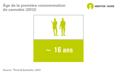 Age de la première consommation de cannabis (2012)